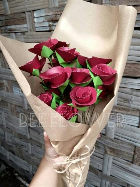 Buket Bunga Kertas Medium Kusudama Flower Bouquet Hadiah Bunga Wisuda Jual Buket Bunga Bouquet Flower Bunga Mawar Bunga