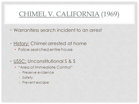 Search Incident To Arrest Free Speech Ppt