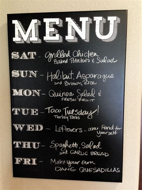 How Do I Design My Kitchen by Chalkboard Menu Made Easy Me Amp My Big Ideas