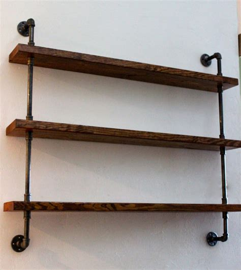 Wood Wall With Shelves Wood Shelving Unit Wall Shelf Industrial Shelves Rustic