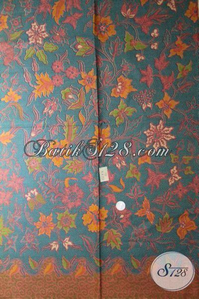 Diskon Kain Batik Meteran Modern Bunga Cantik Terbaru batik bagus harga murah kain batik motif bunga bunga yang berpadu warna modern sangat cocok