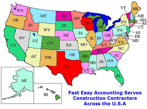 map of the united states excel free estimate template from fast easy accounting 206 361 3950
