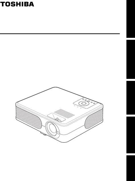 Lu Projector Toshiba Tlp Xc handleiding toshiba tlp xc2000 pagina 1 31
