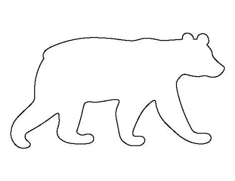 pattern universe pig printable black bear template