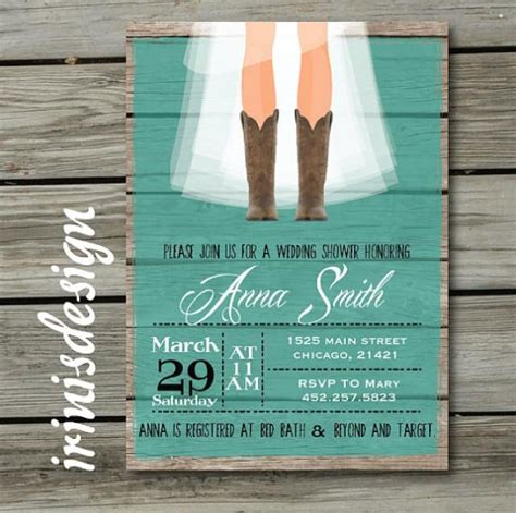 rustic bridal shower hoedown wedding invitation 2222459 weddbook