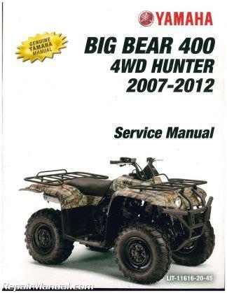 2007 2011 Yamaha Yfm350 Grizzly Irs Auto 4x4 Service Manual