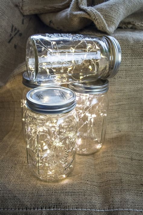 large mason jar table l wide mouth mason jar fairy lights perfect table decor for