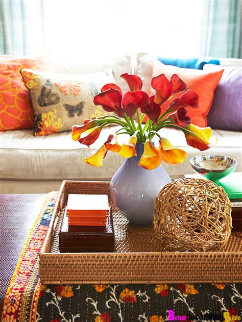 How To Decorate Your Coffee Table by Styling Tips For Decorating With Trays