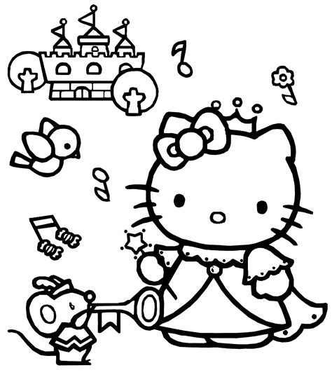 hello kitty coloring pages 06 of 15 princess hd