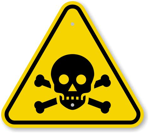 my toxic poison poisonous chemicals warning signs
