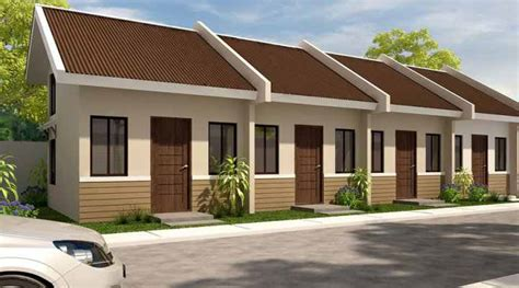 Two Story Loft Floor Plans summer ville 1 storey rowhouse in ibabao cordova lapu lapu