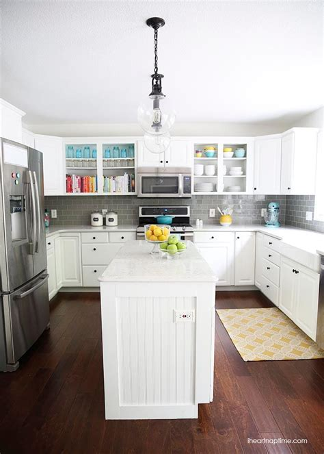 white and grey kitchen makeover i nap time