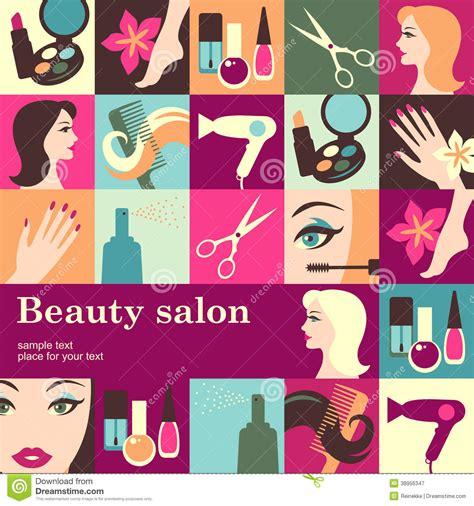 beauty layout vector beauty salon stock vector image 38956347