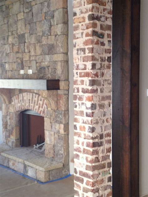 reclaimed brick columns brick details pinterest