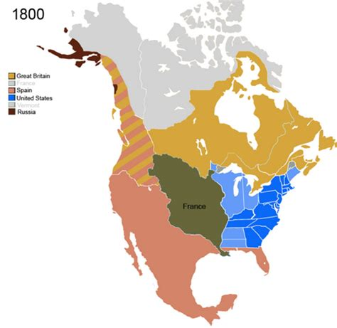 america map in 1800 geography manifest destiny