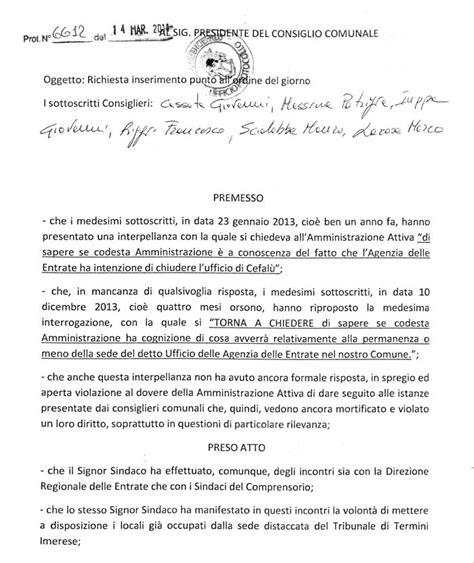 agenzia delle entrate ufficio territoriale ancora una volta i consiglieri d opposizione riportano la