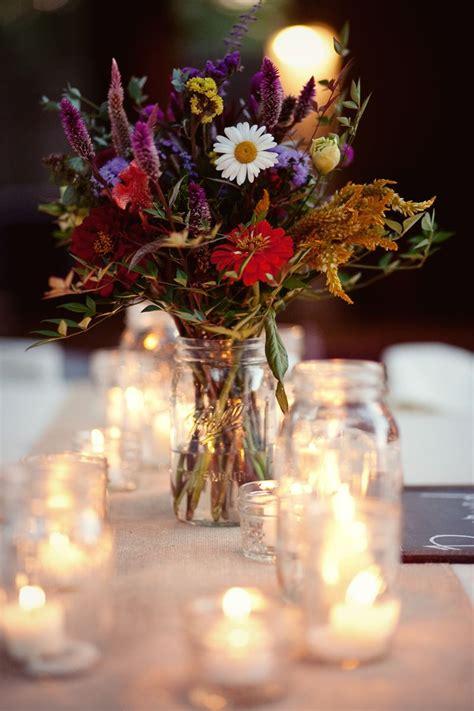 virginia vineyard wedding wildflowers jar candles