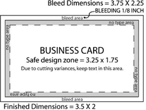 size of a credit card in inches standard business card dimension 4bcard