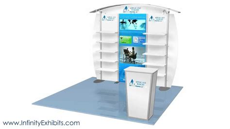 trade show display shelving 10ft modlite arch with shelves trade show display booth