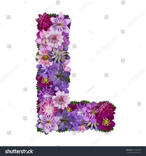 alphabet made of flower letter l stock photo 122989084