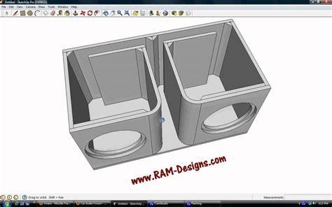 ram design ram designs alpine type r dual 12 quot ported sub box design