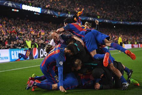 barcelona psg 6 1 barcelona 6 1 psg 2017 uefa chions league match