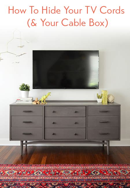 hide tv wires   cord  wall young house love