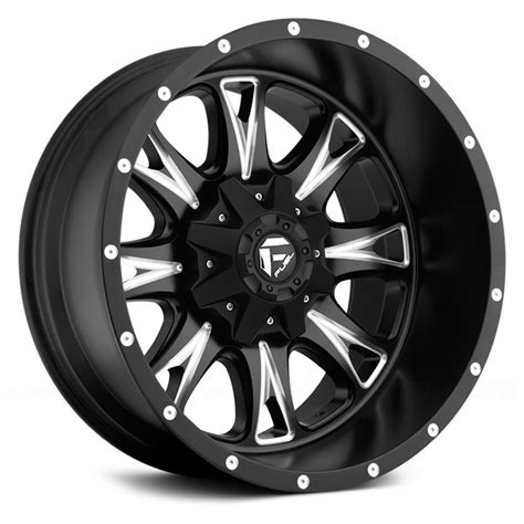 fuel wheels fuel 174 throttle deep lip wheels black with milled accents