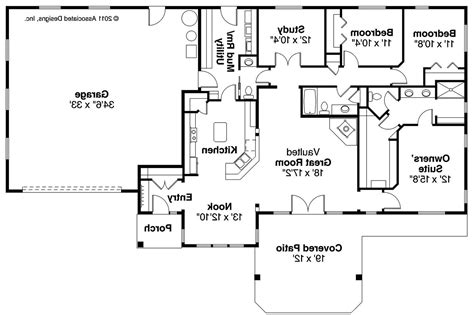 ranch house floor plans ranch house plans elk lake 30 849 associated designs