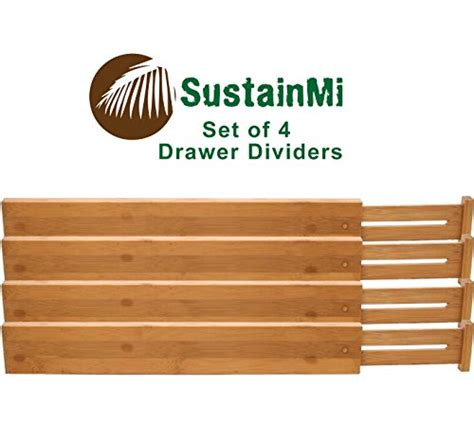 desk drawer dividers adjustable sustainmi bamboo wooden drawer dividers expandable and