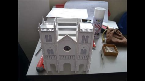 How To Make A Church Out Of Paper - model of our of lourdes church klang time
