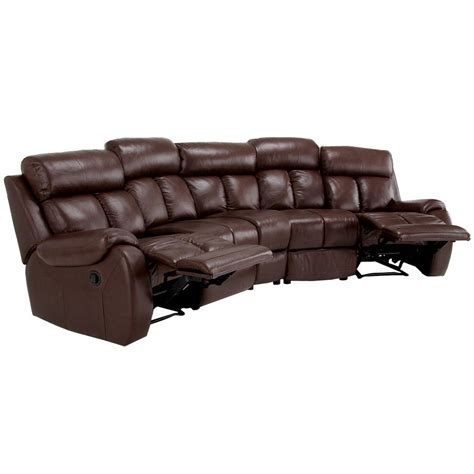 brown leather sectional with recliners furniture brown sectional sofa with arm and back also