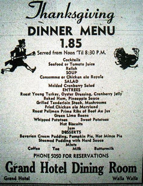 l post diner menu 17 best images about vintage thanksgiving on