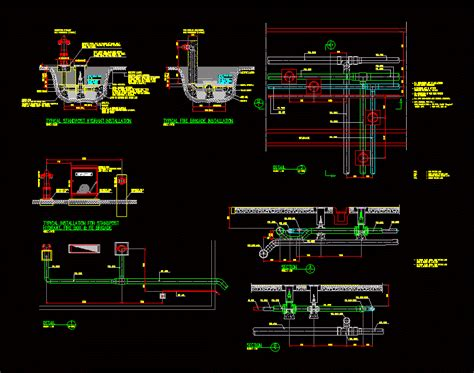 detail fire water  dwg detail  autocad designs cad