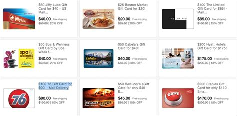 On Sale Gift Cards - many gift cards on sale on ebay including staples and hyatt running with miles