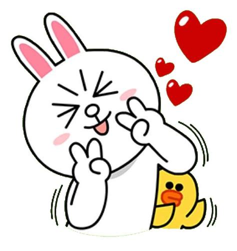 Line Karakter Lipstik 50 best brown and cony images on cony brown line friends and line sticker