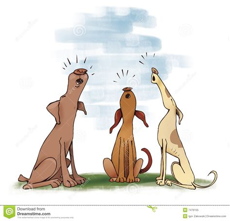 howling puppy dogs howling royalty free stock photo image 7476155