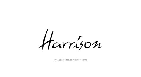 harrison name designs