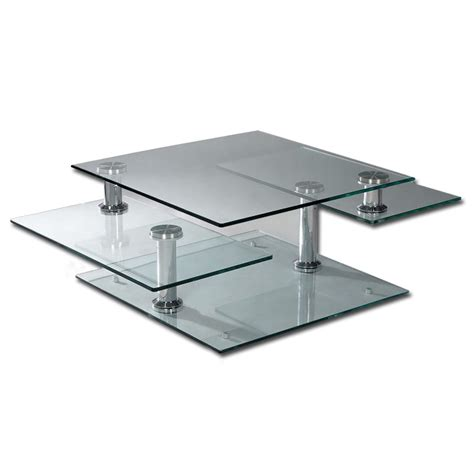 tempered glass 4 tier swivel coffee table buy glass