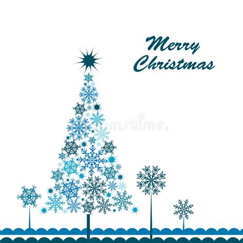 Snowflake Card Template by Template Snowflake Tree Greeting Card Stock Vector