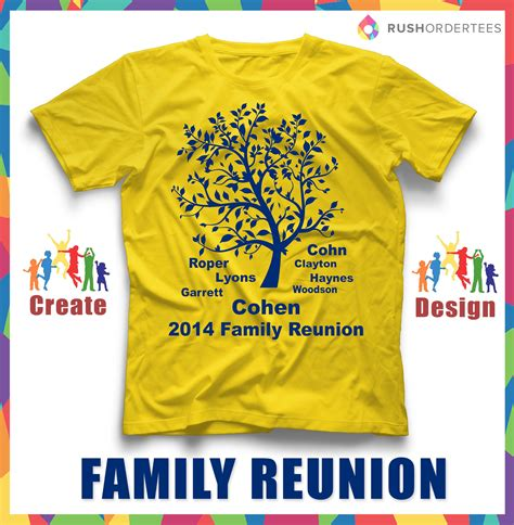 design family gathering family reunion shirt design ideas
