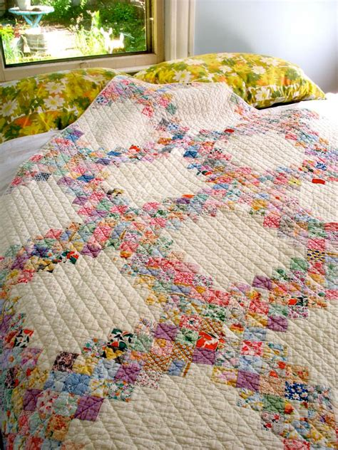 Vintage Patchwork Bedding - vintage patchwork quilt quilted classic postage st