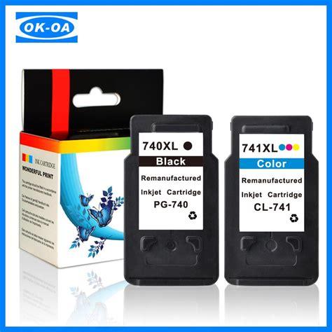 Tinta Canon Cl741 popular m 225 s nuevo cartucho de tinta recargable pg740 cl741 para canon 1300d cartuchos de tinta