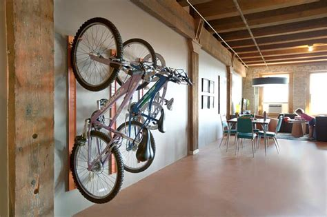 Bike Rack For Office by Is There A Trick To Hanging Your Bike Front Wheel On A