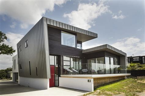 Huge Decks And Spectacular Views Mclaren Residence In New Architectural House Plans New Zealand
