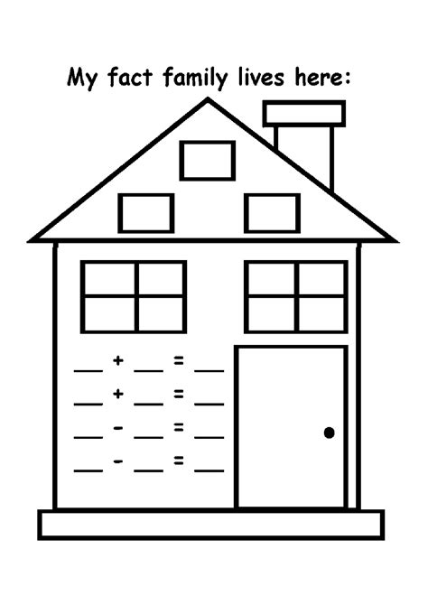 best photos of preschool house template my family in fact family worksheets printable activity shelter