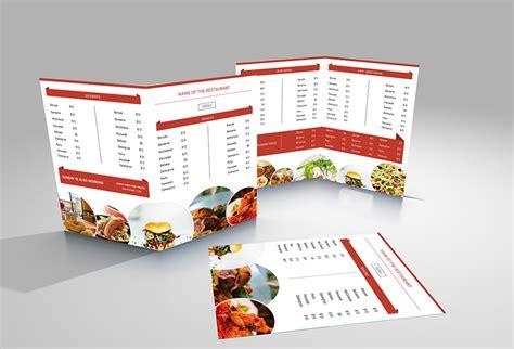 vintage food menu template free download