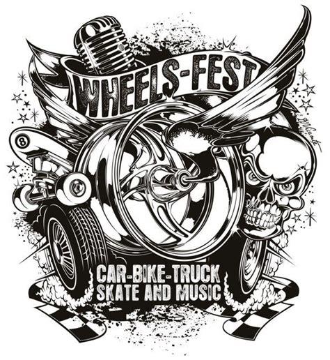 Kaos Harley Davidson Engine Wing ilustra 231 245 es de david vicente ilustras rat fink