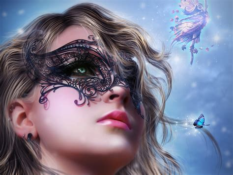 wallpaper girl drawing download wallpaper 1920x1440 art fantasy girl face mask