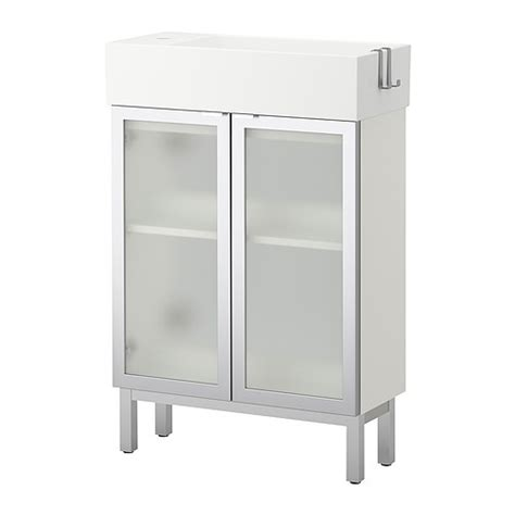 ikea bathroom sink cabinets lill 197 ngen sink cabinet with 2 doors aluminum 60x27x93